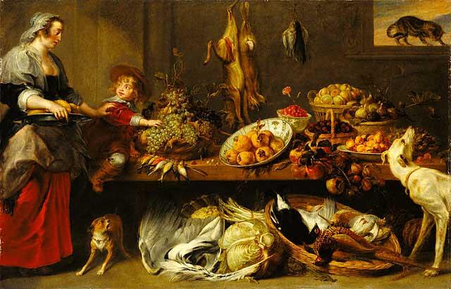 Фламандская живопись, Кухонный натюрморт, Франс Снейдерс и Ян Бокхорст