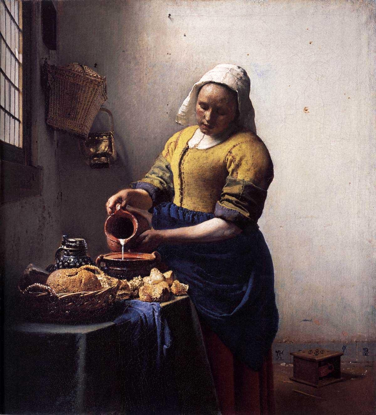 Молочница, Ян Вермеер Делфтский, 1658