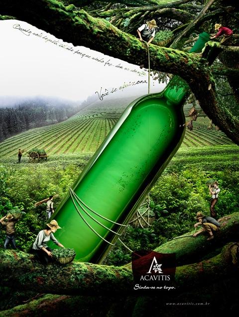 Креатив в рекламе вина. Рекламные постеры | Блог о вине