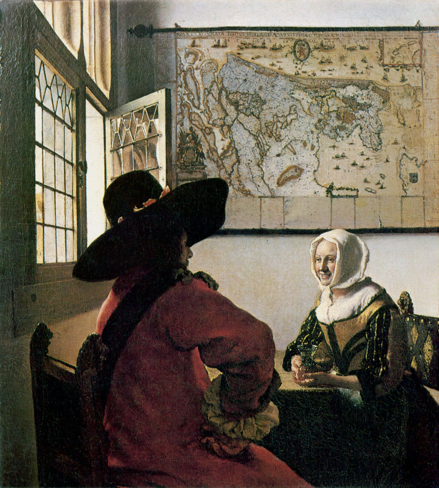 Jan-Vermeer_Officer-and-Laughing-Girl - Вино в живописи | Блог о вине