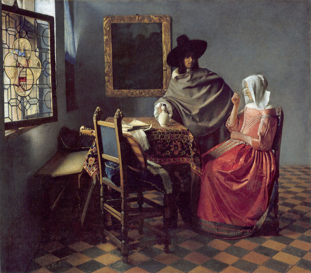 Jan-Vermeer_The-glass-of-Wine - Вино в живописи | Блог о вине