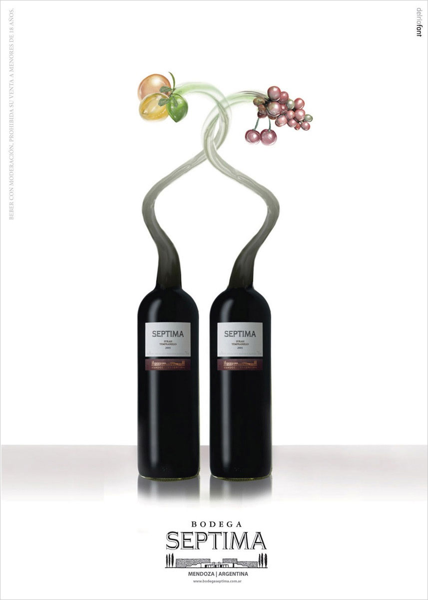 Креатив в рекламе вина. Рекламные постеры