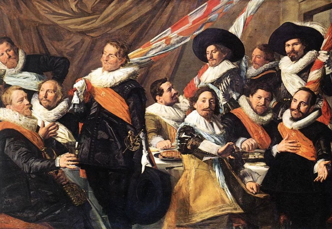 Frans Hals. Banquet of the Officers of the St George Civic Guard Company_1627 - Живопись и вино | Блог о вине