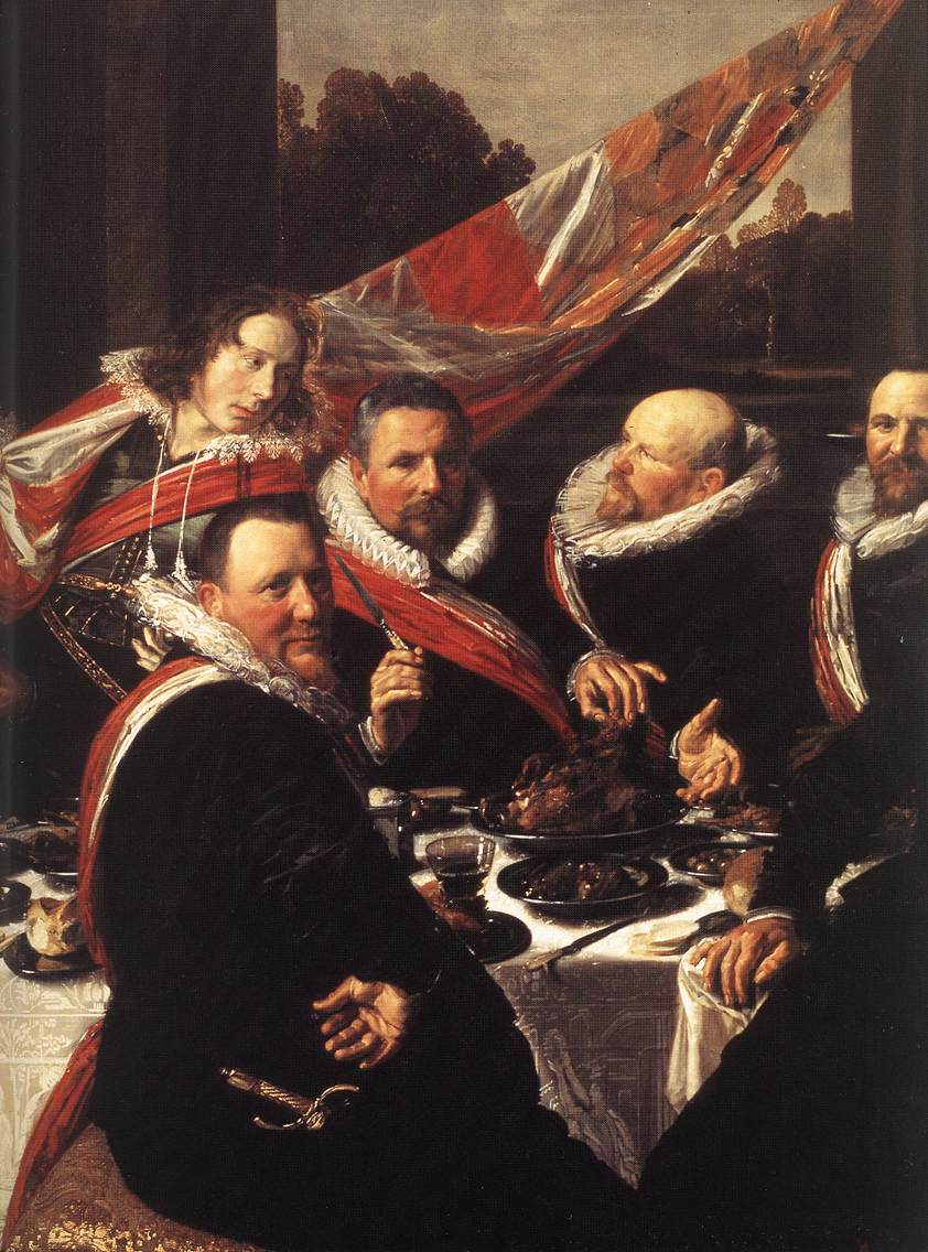 Frans Hals. Banquet of the Officers of the St George Civic Guard (detail)_1616 - Вино в искусстве | Блог о вине