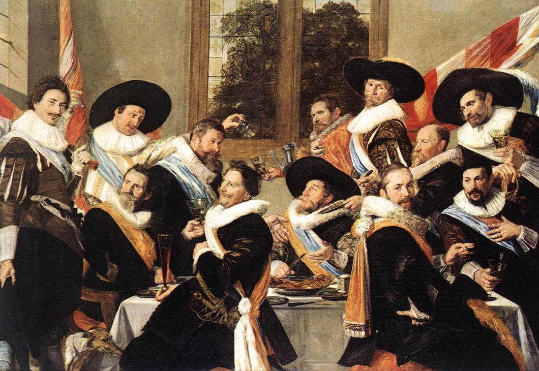 Frans Hals. Banquet of the Officers of the St Hadrian Civic Guard Company_1627 - Вино в искусстве | Блог о вине