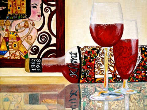 11_Gustav-Klimt-Wine-Label