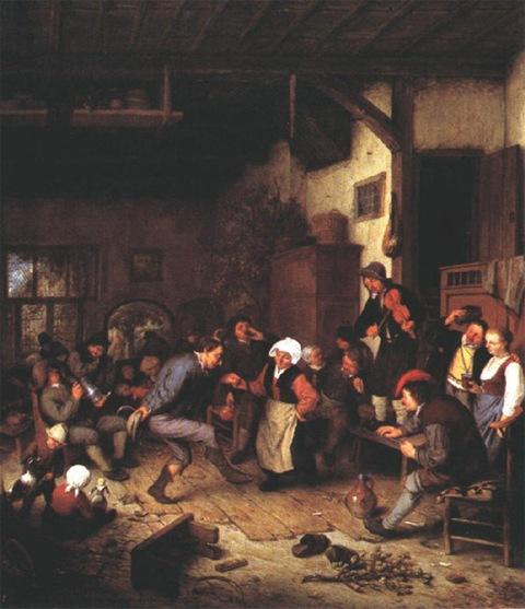 трактирные сцены в живописи Остаде | Блог о вине