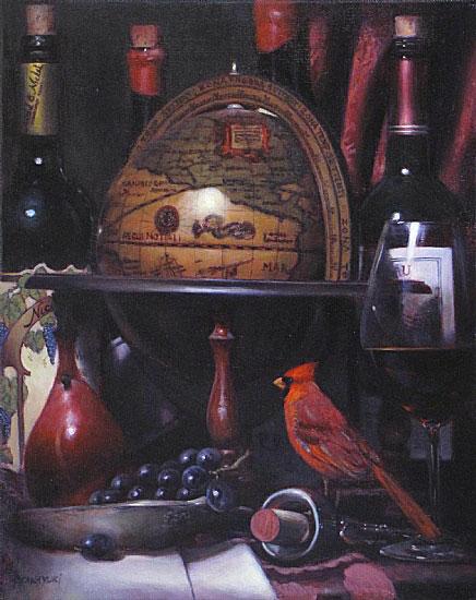Вино в живописи - натюрморт с бутылкой - Блог о вине Беаты и Алекса