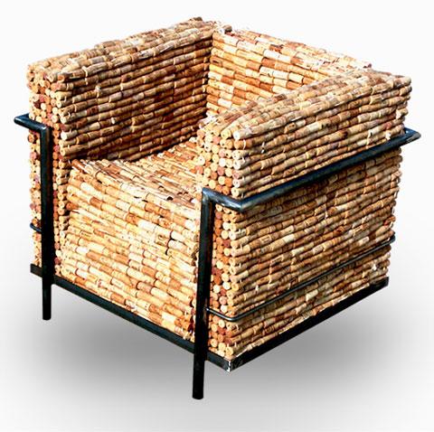 Кресло из винных пробок Gabriel Wiese | Блог о вине