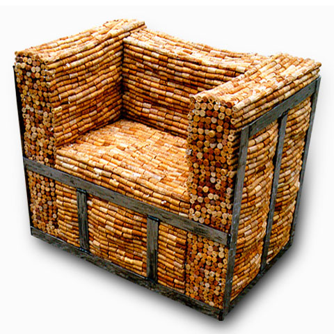 Кресло из винных пробок Gabriel Wiese 2 | Блог о вине