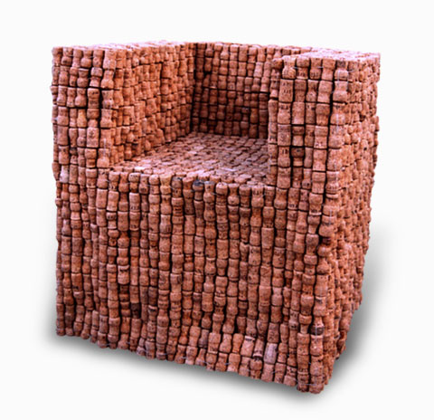 Кресло из винных пробок Gabriel Wiese 4 | Блог о вине