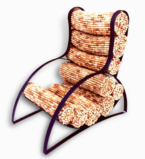 Кресло из винных пробок Gabriel Wiese 6 | Блог о вине