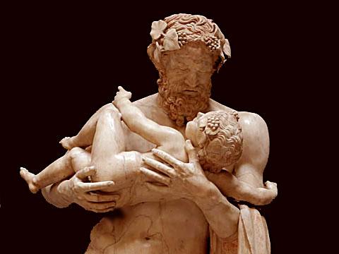 Силен с ребенком Дионисом