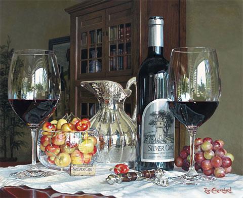 Эрик Кристенсен - Вино Долины Напа в акварельных картинах