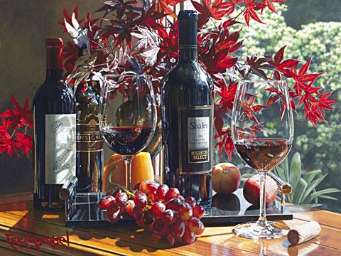 Эрик Кристенсен - Натюрмотры с вином
