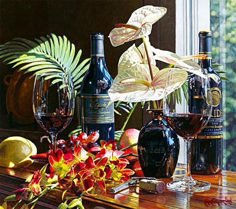 Эрик Кристенсен _ Картины с бутылками вина