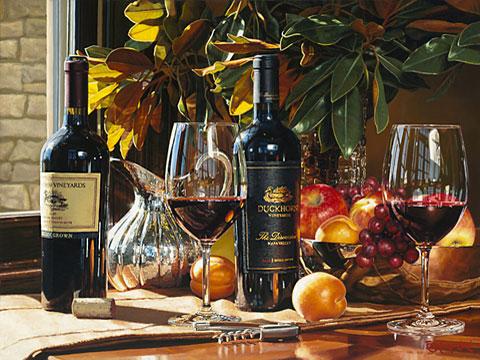 Эрик Кристенсен - Натюрморт с винами Калифорнии