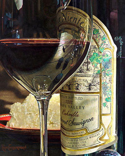 Эрик Кристенсен - Вино в живописи, картины с бутылкой винв