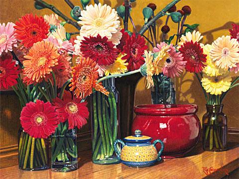 Эрик Кристенсен - Натюрморт с цветами