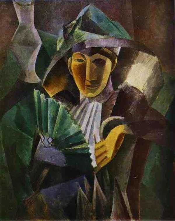 Пабло Пикассо. Дама с веером. 1909
