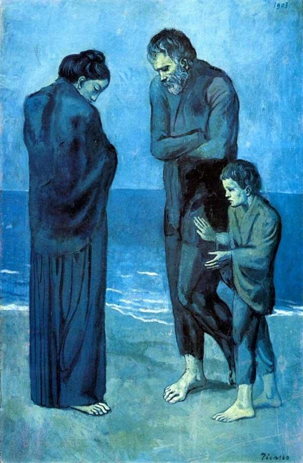 Пабло Пикассо, голубой период