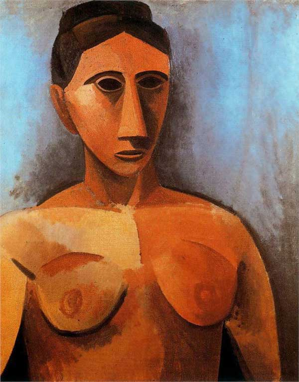 Пабло Пикассо. Женский бюст. 1907