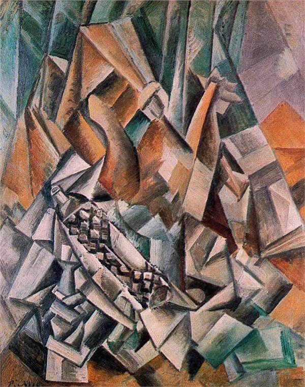 Пабло Пикассо. Бутылки ликера. 1909