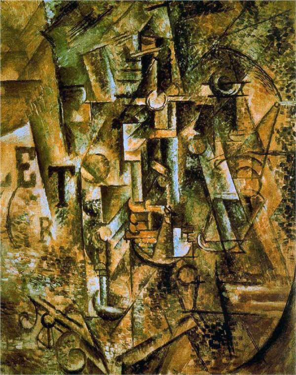 Пабло Пикассо. Бутылка рома. 1911
