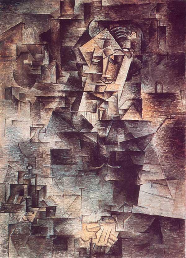 Пабло Пикассо. Портрет Даниэля Анри Канвейлера. 1910