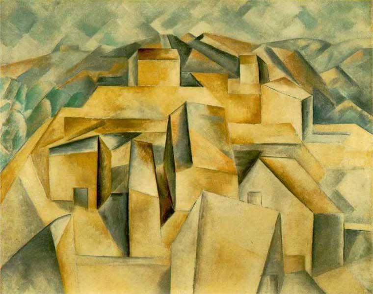 Пабло Пикассо. Дома на холме, или Хорта де Эрбо. 1909