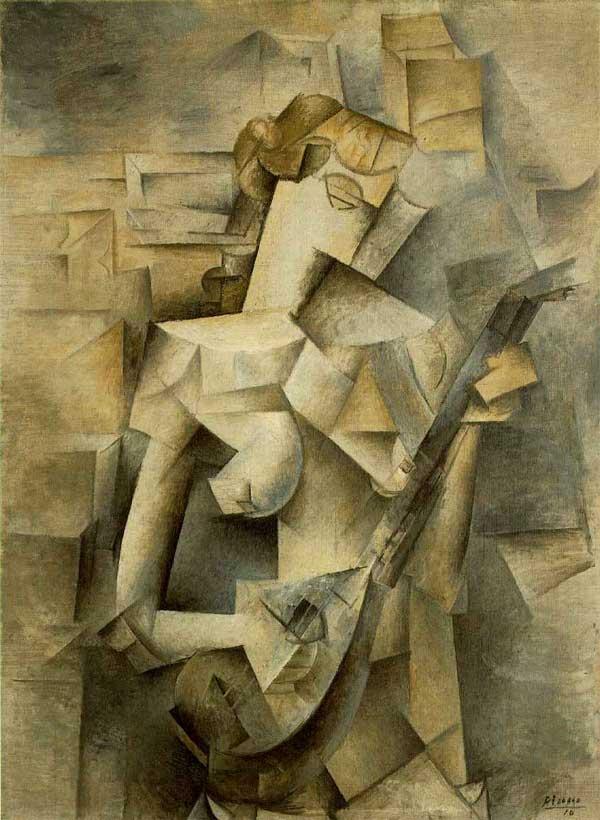 Пабло Пикассо. Девушка с мандолиной, или Фанни Телье. 1910