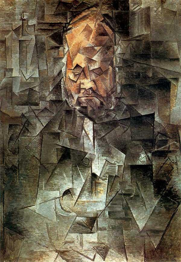 Пабло Пикассо. Портрет Амбруаза Воллара. 1910
