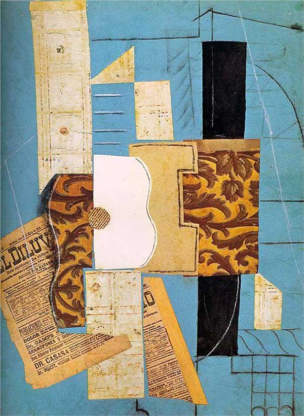 Пабло Пикассо. Гитара. 1913