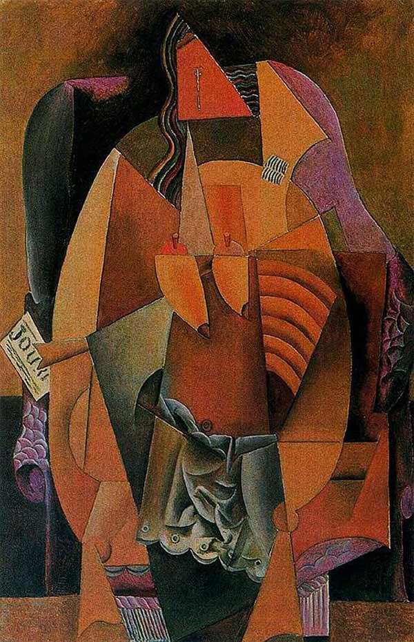 Пабло Пикассо. Женщина в кресле. 1913