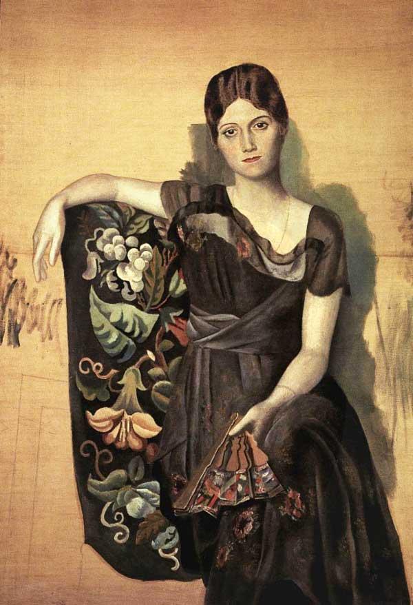 Пабло Пикассо. Ольга в кресле. 1917
