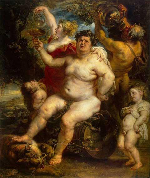 Питер Пауль Рубенс. Бахус. 1638-1640