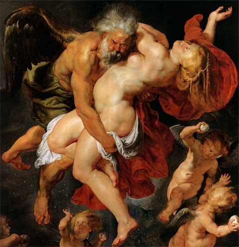 Питер Пауль Рубенс. Борей похищает Орифиюю 1615