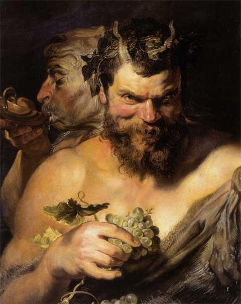 Питер Пауль Рубенс. Два сатира. 1618-1619