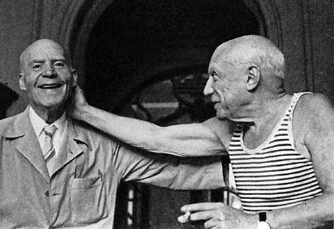 Мануэль Палларес и Пабло Пикассо, фото - Дэвид Дуглас Дункан, 1960