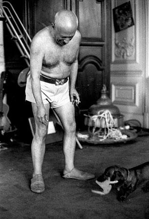 Пабло Пикассо, фото - Дэвид Дуглас Дункан, 1957