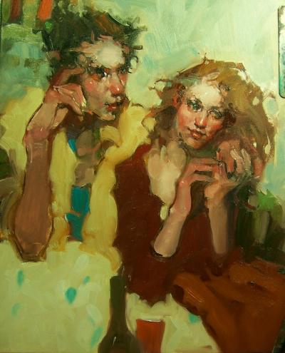 Вино и любовь в живописи Kim Roberti