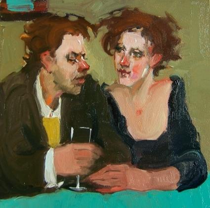 Вино и любовь, современная живопись