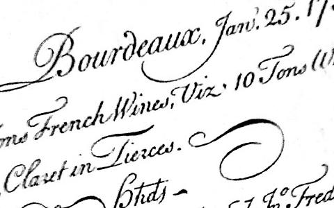 счет за вино бордо 18 век