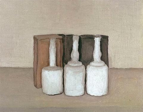 Моранди натюрморт с бутылкой