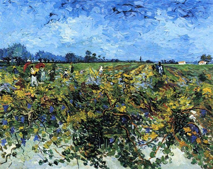 Винсент Ван Гог, Зеленые виноградники, 1888