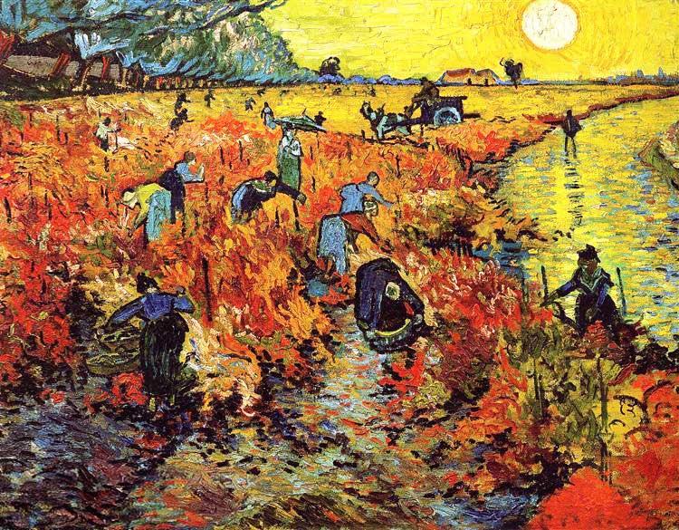 Винсент Ван Гог, Красные виноградники в Арле, 1888