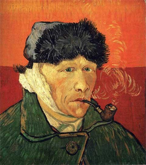Винсент Ван Гог, Автопортрет с обрезанным ухом, 1889