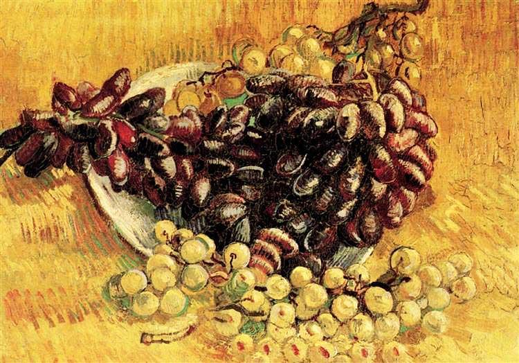 Винсент Ван Гог, Натюрморт с виноградом, яблоками, лимонами и грушами, 1887
