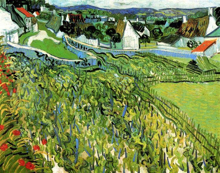 Винсент Ван Гог, Виноградники с видом на Овер, 1890