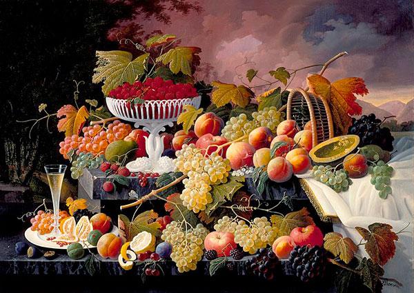 Натюрморты с виноградом и вином, Северин Розен